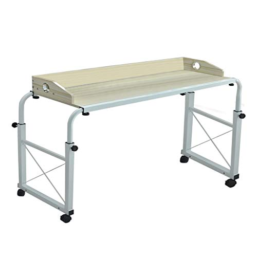Luonita Overbed Table with Wheels, Overbed Desk Over Bed Desk King Queen Bed Table Overbed Laptop Table Over Bed Table with Wheels Shipping from CA.,NJ.