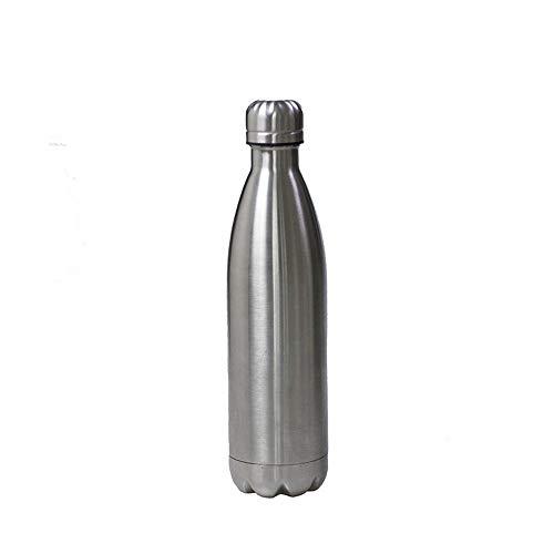 Hunt Power Agua Caliente de Acero Inoxidable Botella de Coca-Cola de una Sola Capa Botella Deportiva de Acero Inoxidable de una Sola Capa Taza de Agua Resistente, Plateada, 350ml