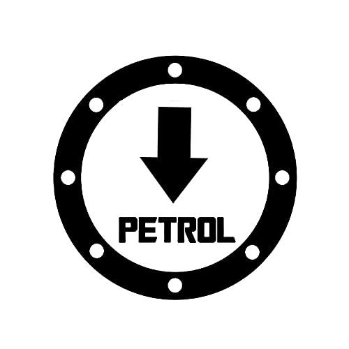 WSWZB 20cm x 20cm Divertido gasolina Pegatinas de coche de combustible Coche Motocicleta Accesorios exteriores Vinilo Calcomanías (Color Name : Black)
