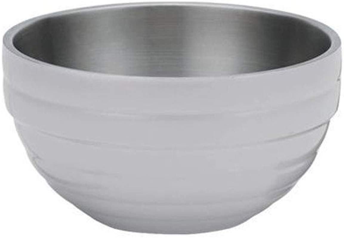 Vollrath 46592 Double Wall Round Insulated Beehive Serving Bowl 6 9 Quart Stainless Steel