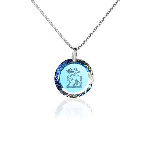 Silberkette Halskette 925 Silber Sternzeichen Tierkreiszeichen Schütze hergestellt mit Swarovski®Kristall