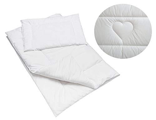 Parure de lit pour lit d'enfant 100 % coton avec couette matelassée 150 x 120 cm et oreiller