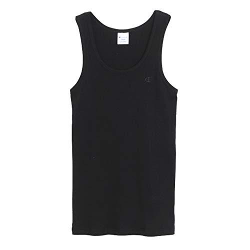 [チャンピオン] タンクトップ ノースリーブ ランニングシャツ 定番 リブ ワンポイントロゴ刺繍 C3-H364 メンズ ブラック XL