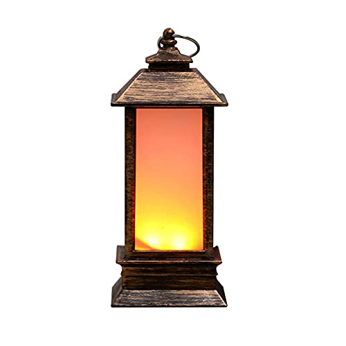 Seii Linterna Retro con Adorno de luz de Vela Luminosa Colorida portátil LED de Llama simulada approving