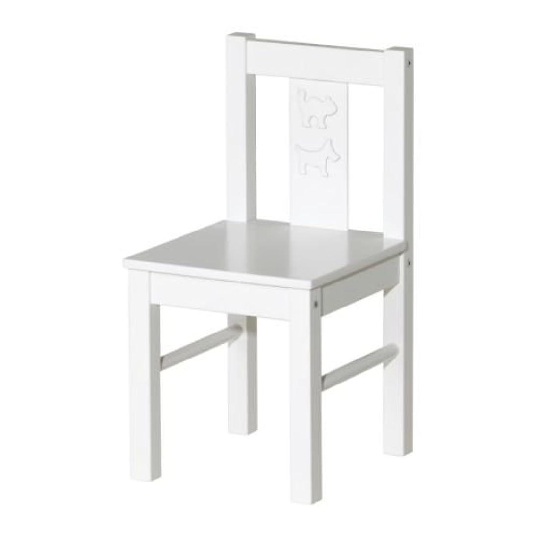 鼻不幸符号IKEA(イケア) KRITTER ホワイト 80164889 子供用チェア、ホワイト