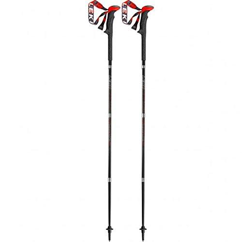 LEKI Micro Stick Carbon Bâton de Trekking Anthracite/Blanc/Rouge Taille 110 cm