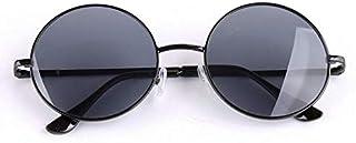 Retro Round Sunglasses Metal Glass Frame Sunglasses for men and women