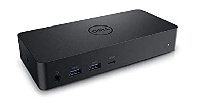 D6000 USB-C Triple Docking Station, Up to three 4K Displays via USB-C, UHD 5K, USB 3.0, Gigabit Ethernet, 130-Watt AC Adapter, Charges up to 65W laptop via USB-C, 452-BCYT 452-BCYH