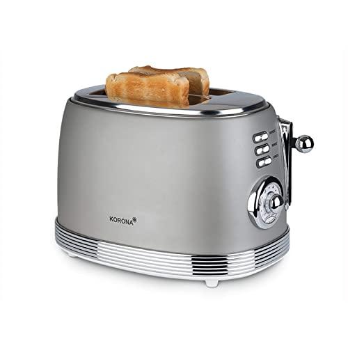 Korona 21667 Tostadora Retro | 2 rebanadas de pan | Indicador de grados de tostado retro