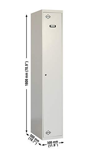 Taquilla desmontada 1 cuerpo 1 puerta Gris/Gris Simonrack 1800x300x500 mms -Taquilla para colegio - Taquilla industrial - taquilal de vestuario