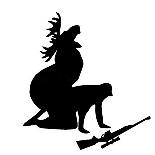 Car Sticker Elk Hunter Personalized Decal How Ya Likes My Meat Funny Moose Hunter PVC Car Sticker Cover Scratch, 13cm*12cm