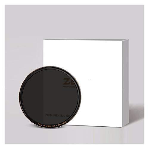 Ultra delgado, impermeable Filtro SLIM ND ND8 ND64 ND1000 Filtro de vidrio óptico de borde de plata 49/52/55/7/62/67 / 72/77 / 82mm for la cámara for Nikon for Canon forSony para lente de cámara