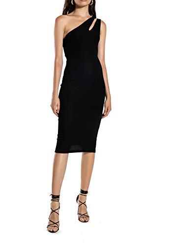 Ivy Revel DE Cutout One Shoulder Dress Vestido de Fiesta, Negro (Black 1), X-Large para Mujer