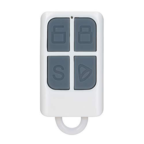 Btuty 433MHz Mando a distancia inalámbrico con llavero con Armar/Desarmar/Armar en casa/SOS 4 botones para sistema de alarma de seguridad RF 433Mhz Dispositivos controlados Control