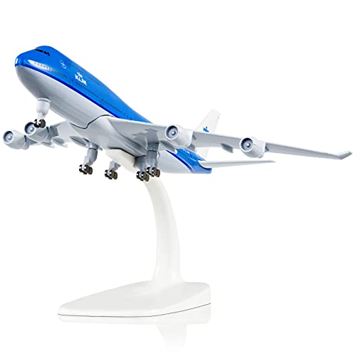 Busyflies 1/350 Scale KLM Dutch Royal B747 Airplane Model Metal Aircraft Model for...