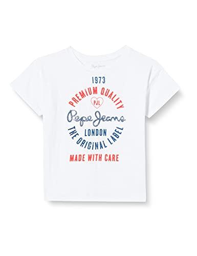 Pepe Jeans Nala Camiseta, 802optic White, 6 para Niñas