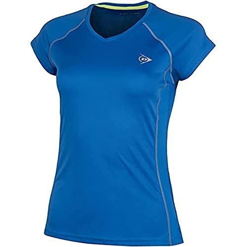 Dunlop Damen, Crew T-Shirt, blau, L