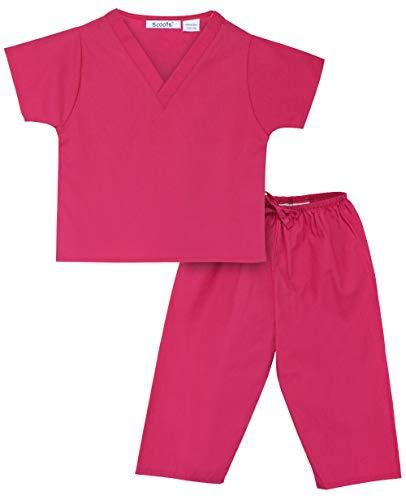 Scoots Little Girls' Scrubs, Hot Pink, 3T