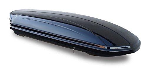 Dachbox schwarz VDP-MAA580 Duo großer Dachkoffer 580 Liter beidseitig aufklappbar abschließbar
