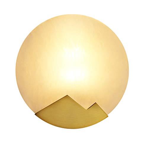 Décoration- Laiton Applique Créative Personnalité Chambre Chevet Lampe Allée Salle De Bains Salon Fond Mur Marbre Lampe