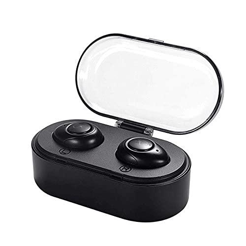 Auriculares Bluetooth V4.1 Mini auriculares para automóvil manos libres TWS True inalámbrico auricular estéreo auriculares inalámbricos para teléfonos iOS y todos los teléfonos inteligentes con caja d