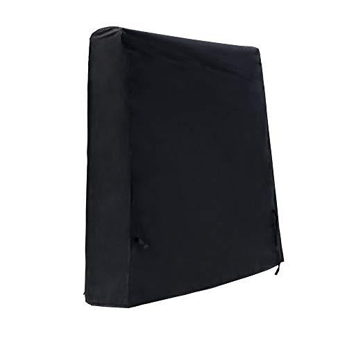 SIRUITON Tischtennisplatte Abdeckung Ping Pong Tisch Wasserdicht Atmungsaktiv Schutzhülle Schwarz - 18 Monate Garantie 160×73×170cm