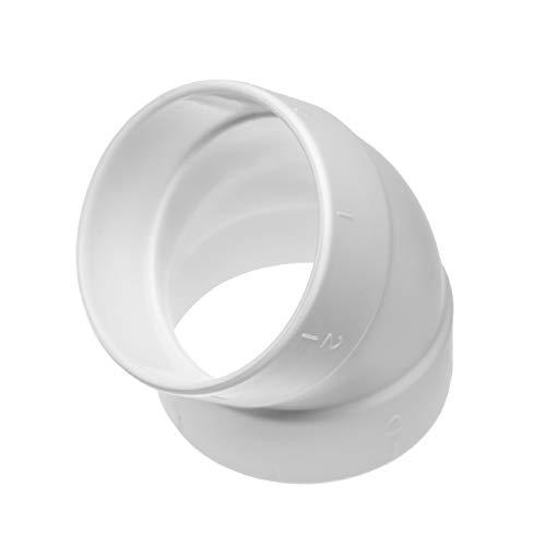 vhbw 45° Rohrbogen, innen/innen passend für Zentral-Staubsaugeranlage, 50.8mm Durchmesser / 2\'\'Rundrohrsystem