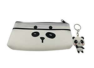 Panda Theme Decor Set With 1pcs Panda Pencil Case and 1pcs Panda Key Ring For Student Kids Gift