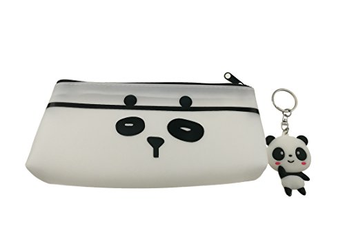 Panda Theme Decor Set with 1pcs Panda Pencil Case and 1pcs Panda Key Ring for Student Kids Gift
