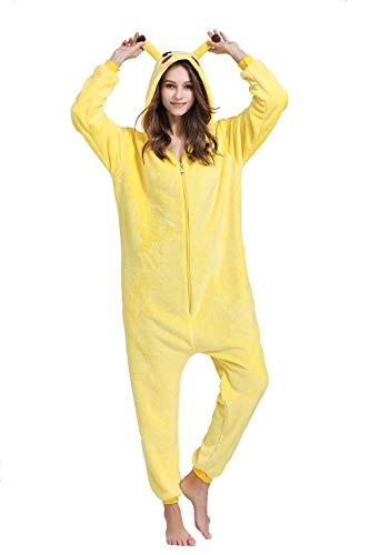 Yimidear Unisex Adult Pyjamas Cosplay Tier Onesie Nachtwäsche Nachtwäsche, Gelb, L