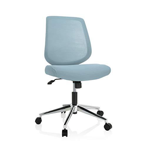 hjh OFFICE 740004 - Sedia da ufficio Chester W in tessuto e rete, colore: Azzurro