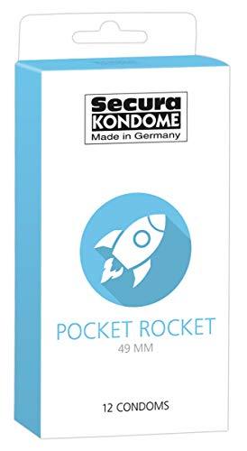 Secura Pocket Rocket 12er Kondome - 12 sehr enge Präservative zur Verhütung für Männer, extra schmale Breite