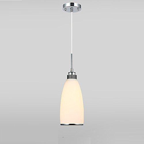 LightInTheBox Max60W - Lámpara de techo colgante de cristal de metal, diseño moderno y contemporáneo