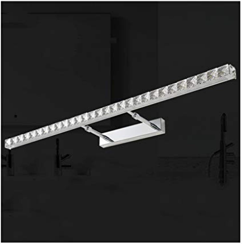badezimmerlampe Spiegelkabinett-Licht-Kristall LED-Badezimmer-Wandleuchte-ersteigbares Spiegel-Frontlicht (Farbe   Weies Licht-18W 91CM)