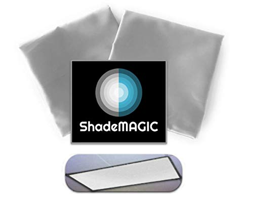 ShadeMAGIC Fluorescent Light Covers for Classroom or Office - Light Filter Pack of (2); Eliminate Harsh Glare That Causing Eyestrain and Head Strain. Office & Classroom Decorations. Light Diffusers
