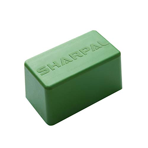SHARPAL 209H 8 Oz. Polishing Compound Fine Green Buffing Compound, Leather Strop Sharpening Stropping Compounds (8 Oz. Green)