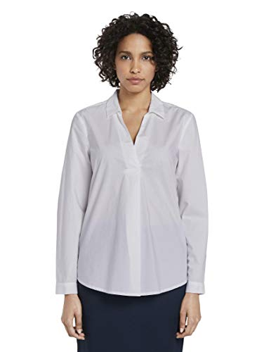 TOM TAILOR mine to five Tunika Bluse, Damen, Weiß 46 EU