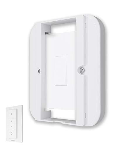 Samotech® Lichtschalter Weiß Abdeckung für Philips Hue Dimmer (SM200)