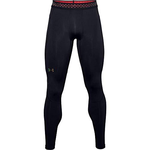 Under Armour Leggings Rush Heatgear 2.0 Leggings Sportivi, Uomo, Black / / Reflective (001), MD