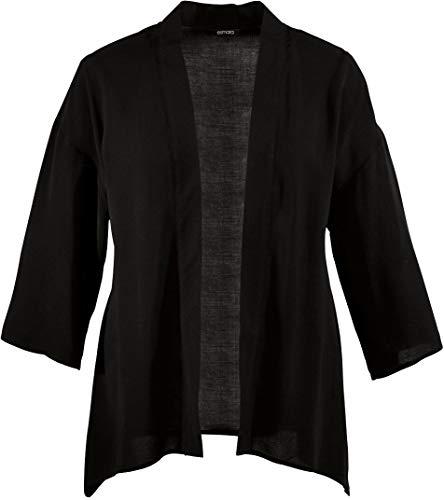 Esmara® Damen Kimonojacke (schwarz, Gr. 46)