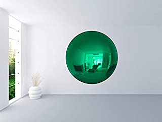 LSX Anish Kapoor concave Mirror Polished Contemporary Sculpture Stainless Steel Sculptures for (Green, 60cm)