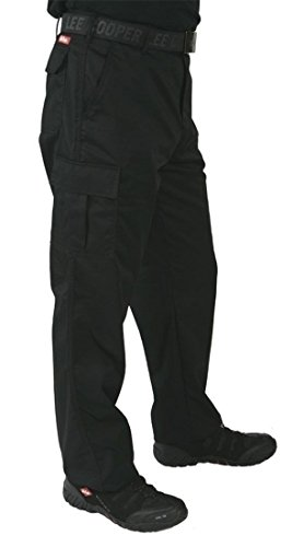 Lee Cooper LCPNT205 Cargo Pant - Arbeitshose (Schwarz, 36/32)