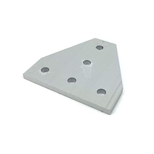 XBaofu 06.04 / 10er Aluminium-Legierung 5-Loch T Verbindungsplatte 60 * 60 * 4mm for 2020 V-Nut/T-Nut-Schiene (Größe : 6pcs)