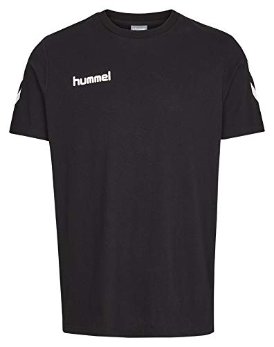 hummel Core Cotton Camiseta, Unisex Adulto, Negro, L