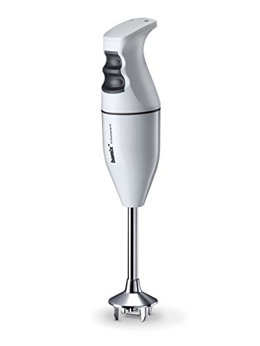 bamix Classic Hand Blender Food Processor Swiss Made Lifetime Guarantee 160 W Heavy Duty AC Motor 10-16000 rpm Two Speed Setting Soft Grip Safety Switch Stainless Steel Shaft Multi Purpose Blade