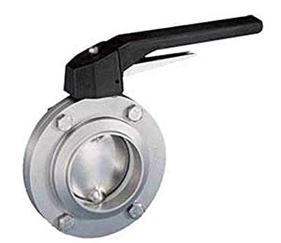 "Steel and Obrien BFVTW-15-304 Stainless Steel Weld Butterfly Valve, Trigger Handle, 1-1/2"" from Steel and Obrien"