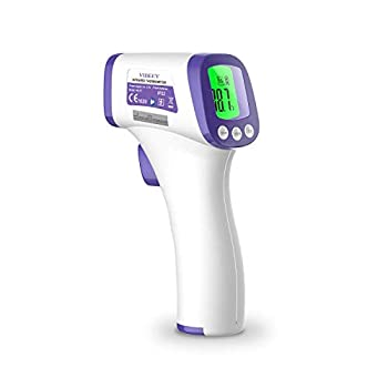 Vibeey Thermometer for Adults Digital Non-Contact Forehead Infrared Thermometer with Fahrenheit Reading for Baby and Adults