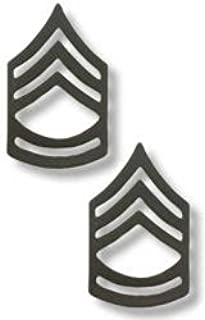 US Army Sergeant First Class Black Collar Device Rank Insignia Pair