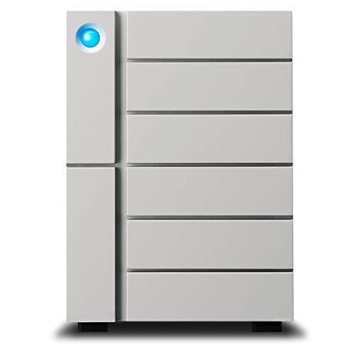 LaCie 6big 6-Bay Desktop RAID Storage Array with 84TB (6x 14TB) HDD, 7200 RPM, 2x Thunderbolt 3 and 1x USB 3.1, Supports RAID 0/1/5/6/10/50/60