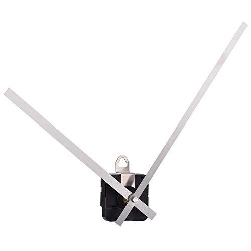 Mudder Movimiento de Reloj de Cuarzo de Par Alto Motor de Mecanismo con Agujas Rectas Largas de 250 mm/ 9,8 Pulgadas (Plateado)